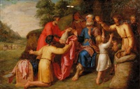 joseph's brothers returning to jacob with gifts by pieter lastman