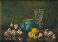 champignons et citrons by berthe art