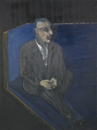 (seated man) by francis bacon