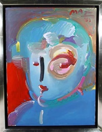zero in blue by peter max