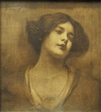 young woman portrait by constantin jiquidi