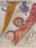 donkey & the eiffel tower by marc chagall