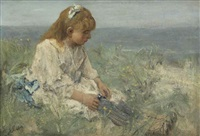 daydreaming in the dunes by jacob henricus maris