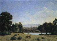 paysage animé by ernest emile armand-delille