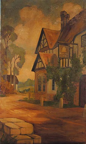 untitled blue bell inn by roland gissing