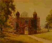 the gatehouse, charlecote by ernest william haslehurst