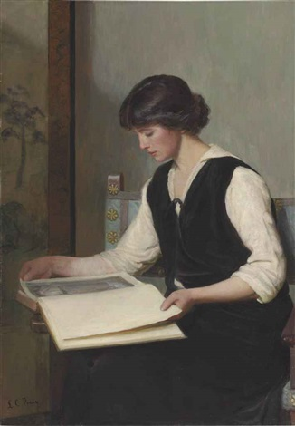 reading by lilla cabot perry