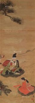 日本浮士绘图 镜片 纸本 by lin yushan