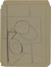 figure (study) by arshile gorky