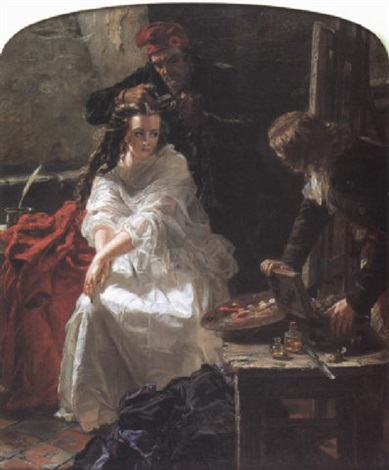 charlotte corday - her last toilette before her execution by edward matthew ward