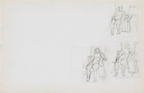 studies of female nudes by arshile gorky
