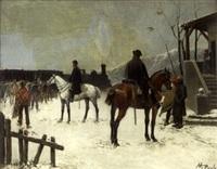 militaires à cheval by manuel picolo y lopez