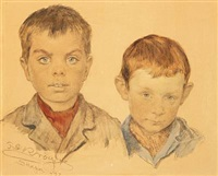 two boys from skagen by peder severin krøyer