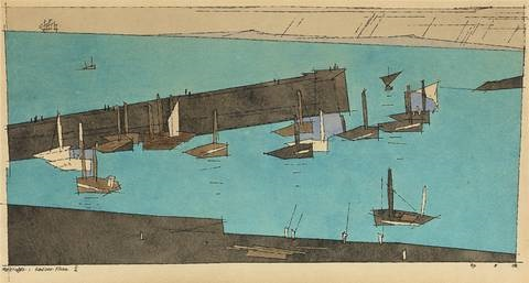 sardinen fischer ii by lyonel feininger
