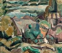 annecy, village au bord du lac by henri le fauconnier