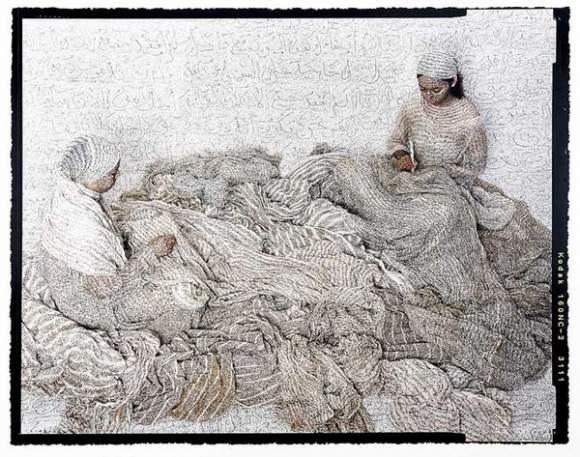 harem women writing by lalla essaydi