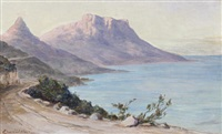 view towards sandy bay from camps bay (+ 2 others; 3 works) by edward clark churchill mace