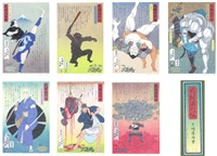 legendary warriors series (set of 7) by hisashi tenmyouya