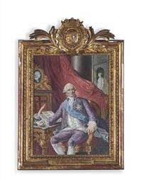portrait d'abel-françois poisson de vandières, marquis de marigny by louis tocqué