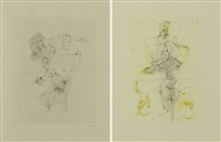 ensemble de quatre planches:, -inceste by hans bellmer
