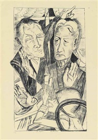 die familie, from: hölle by max beckmann