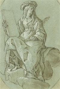 etude plafonnante de sibylle by lazzaro tavarone