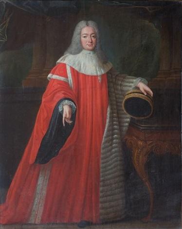 portrait de paul de roux, marquis de gaubert et de courbon, baron des angles, avocat général au parlement de provence by pierre gobert