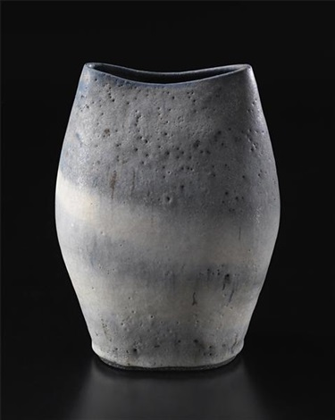 rare large flower vase by lucie rie