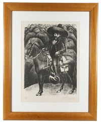 emiliano zapata by david alfaro siqueiros