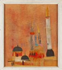 mosque & minarets, istanbul by james harrill