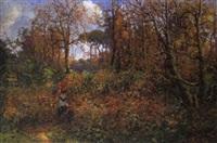 fanciulla nel bosco by guido boggiani