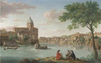 the church of san giovanni dei fiorentini, on the tiber, rome by hendrick frans van lint