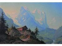 paysage de montagnes by konrad corradi