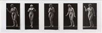 nu (study) (+ 4 others (studies), various sizes; 5 works) by jean-marie auradon