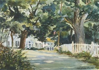 house in the shade by fairfield porter