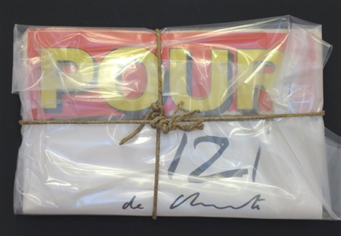 pour journal wrapped by christo and jeanne claude