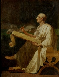 ciceron ecrivant by jean françois pierre peyron