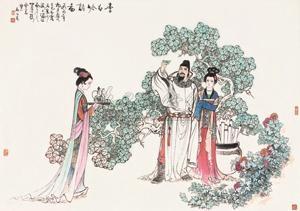 李白吟诗图 figure by gu bingxin