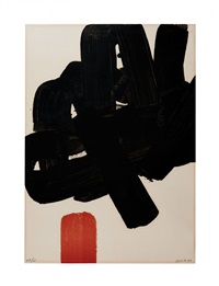 lithographie 24b by pierre soulages
