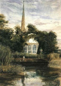 stratford-on-avon by john william inchbold