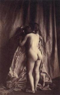 female nude by eugène (jean louis marie) durieu