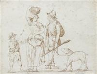 paysans romains (study) by carlo labruzzi