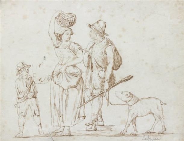 paysans romains study by carlo labruzzi