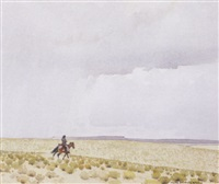 rider on the plains by don louis perceval