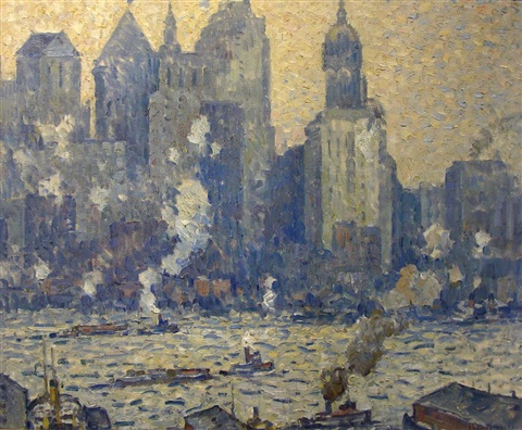 shadows and towers new york by guy carleton wiggins