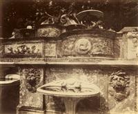 grand trianon-le buffet by eugène atget
