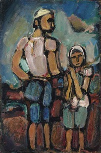 paysans by georges rouault