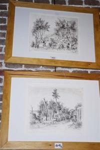 paesaggi liguri (pair) by emanuele rambaldi