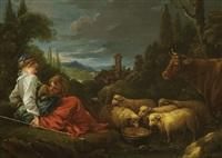 les enfants du berger by françois boucher