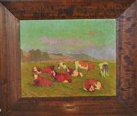 vaches au pré by marcel couchaux